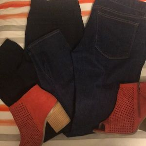 Two pairs of GUC JCrew toothpick jeans size 30